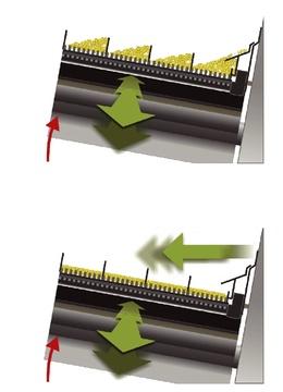 Электрическая регулировка решета. Зерноуборочный комбайн CLAAS TUCANO 580/570