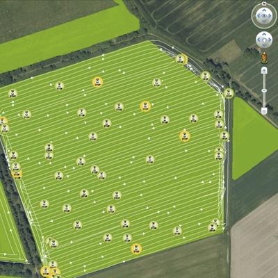Картирование поля. Зерноуборочный комбайн CLAAS TUCANO 580/570